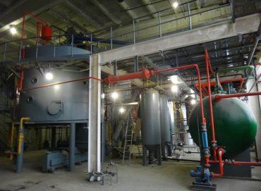 Линия экстракции по жмыху подсолнечника мощность 100 т/сутки от производителя.